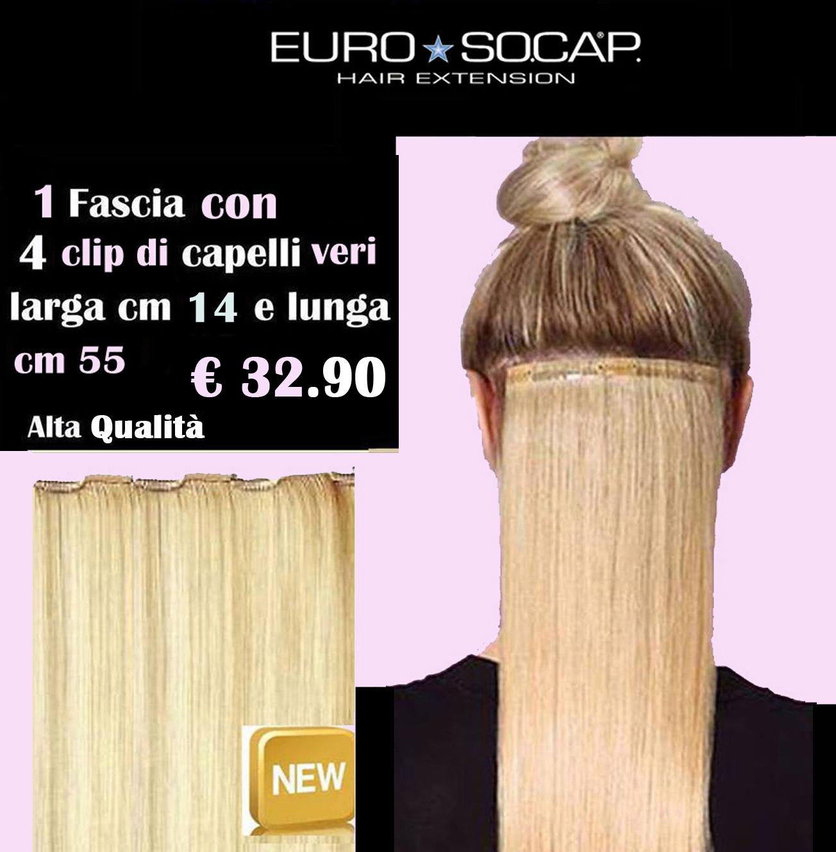 Euro socap hair extension 1 fascia di capelli naturali tessiti con euro socap hair extension 1 fascia di capelli naturali tessiti con 4 clip ebay pmusecretfo Choice Image