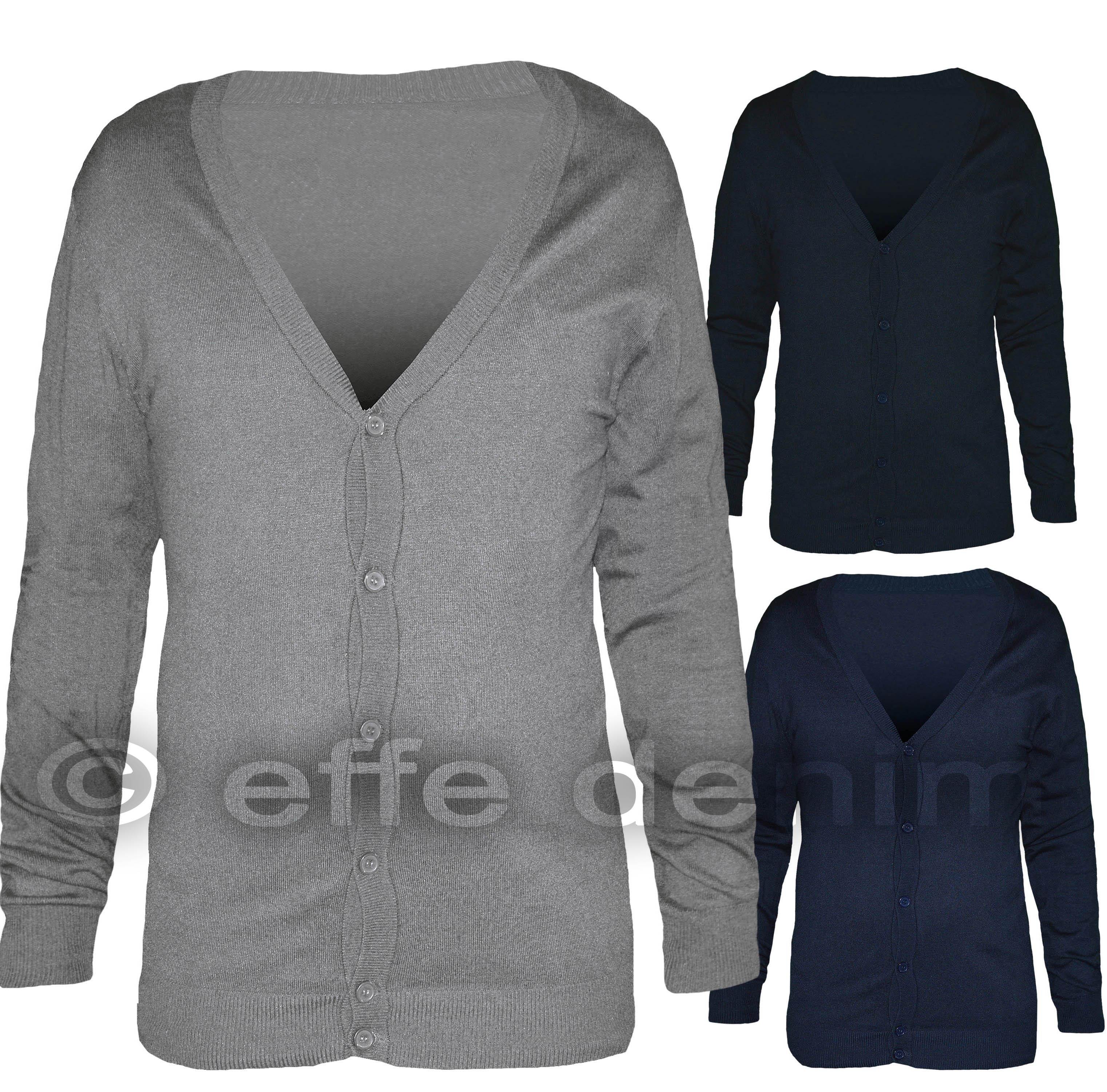 Pullover Bottoni NUOVO tg S M L XL Cardigan Maglia da Donna Cardigan Bottone Maglione