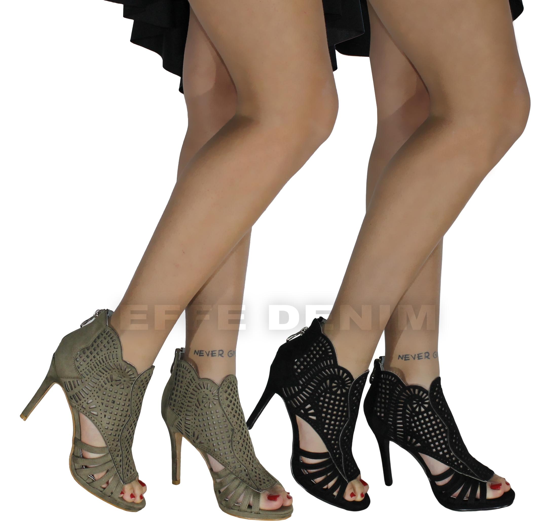 00cb012fa9 Dettagli su Scarpe Donna eleganti Sandali Traforati decoltè Tacco Alto  spuntate sexy 335