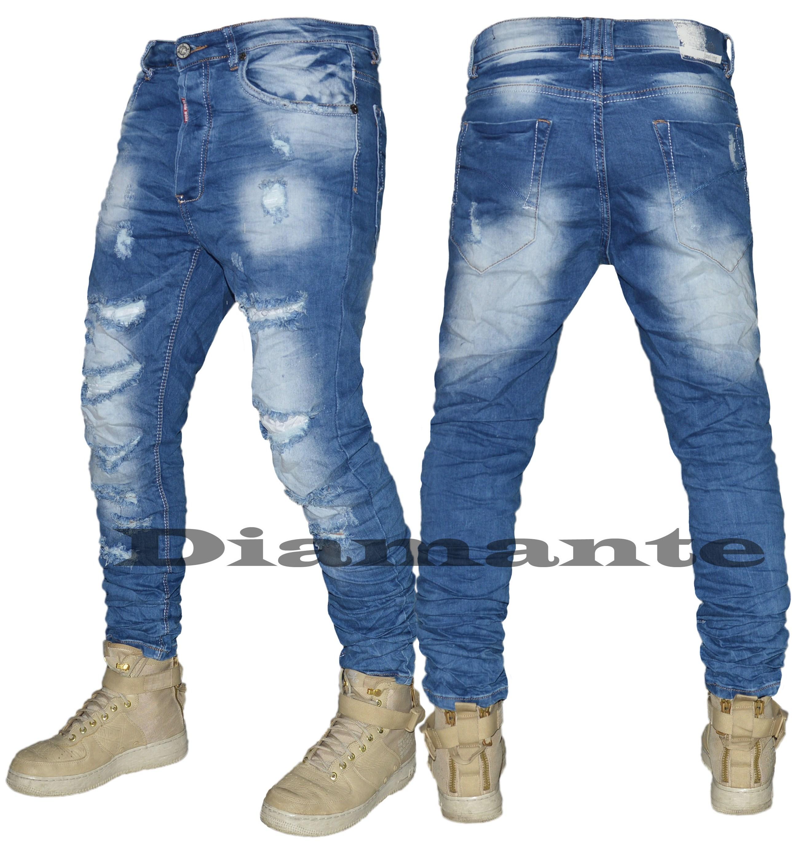 Jeans Uomo Denim slim elasticizzato Pantalone Blu Effe Denim art 215
