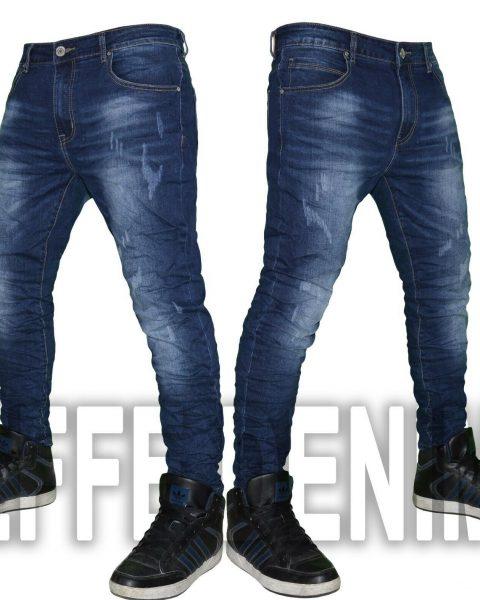 Jeans-uomo-Denim-pantaloni-Blu-5-Tasche-elasticizzati-nuovo-779-Effe-Denim-254433178330-2