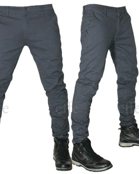 Pantaloni-uomo-Casual-cotone-slim-chino-elasticizzati-Tasca-America-a-filo-nuovo-263200289470-2