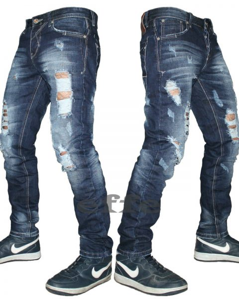 Jeans-uomo-strappato-DENIM-slim-comfort-pantalone-vintage-42-44-45-46-48-50-251732599592-2
