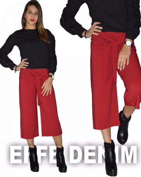 Pantaloni-Donna-Fracomina-Made-in-Italy-Palazzo-Capri-Fiocco-sexy-nuovo-263328209923-2