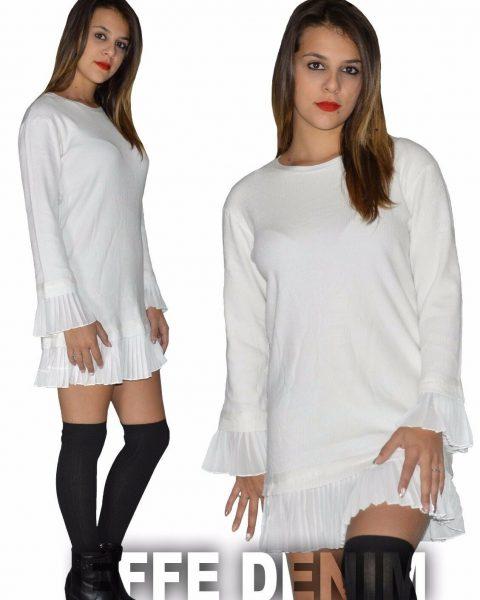 Maxipull-Donna-miniabito-orlo-a-coste-vestito-maxi-maglia-pullover-sexy-1485-263327145084-2