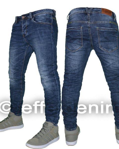 Jeans-uomo-Denim-pantaloni-Blu-5-tasche-slim-elasticizzati-nuovo-7676-Effe-Denim-254382882705-2