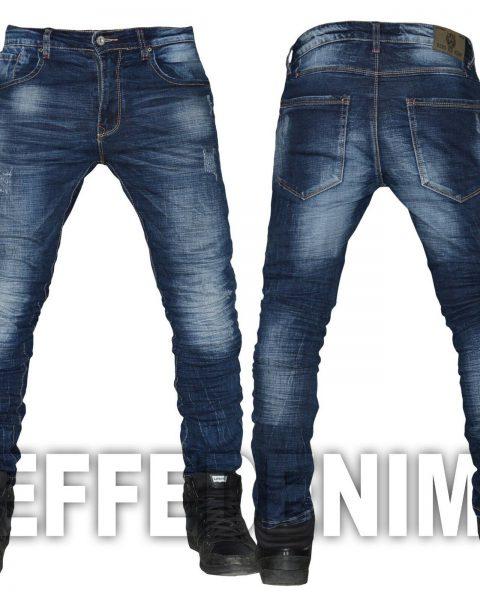 Jeans-uomo-Denim-slim-pantaloni-5-Tasche-elasticizzati-risvolto-Effe-Denim-502-263944905815-2