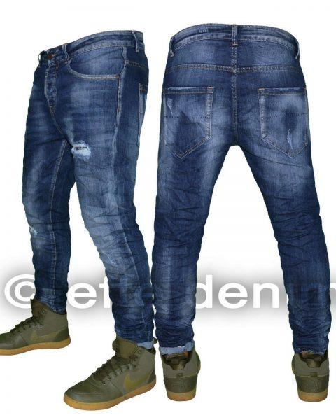 Jeans-uomo-Denim-strappati-slim-fit-pantaloni-Blu-elasticizzati-nuovo-1390-264494061686-2