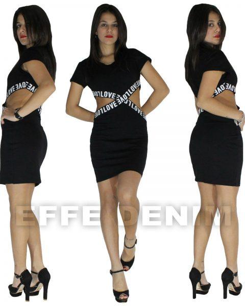 Miniabito-Donna-Sexy-vestito-Casual-aperture-Fianchi-Nudi-nude-look-Nuovo-5167-262894807066-3