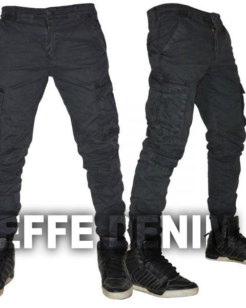 Pantaloni-uomo-Cargo-Tasconi-Laterali-Slim-elasticizzati-Jeans-nuovo-310-263247970477-2